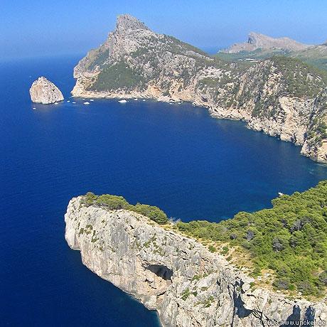 Blick nach Cap Formentor im Norden, Mallorca 2003