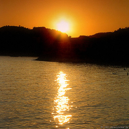 Sonnenuntergang bei Paguera, Mallorca 2003