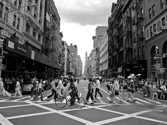 Blick Richtung Downtown, New York 2004
