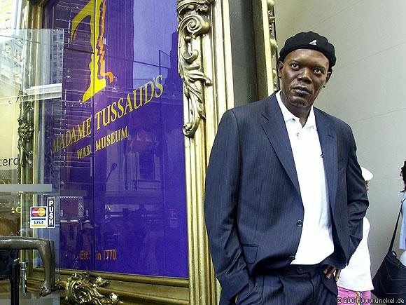 Samuel L. Jackson - leider nur aus Wachs, New York 2004