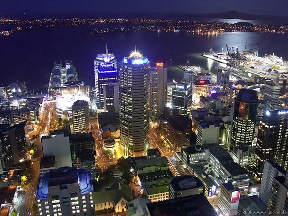 Blick vom Skytower, New Zealand - Aotearoa 2004/05