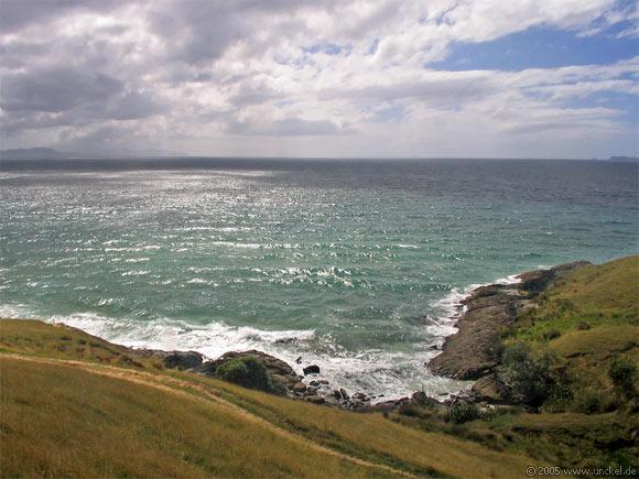 Mercury Island in der Ferne, New Zealand - Aotearoa 2004/05
