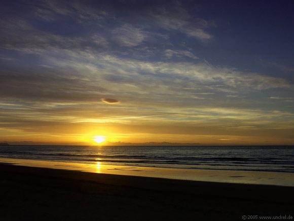 Sonnenuntergang bei Wellington, New Zealand - Aotearoa 2004/05