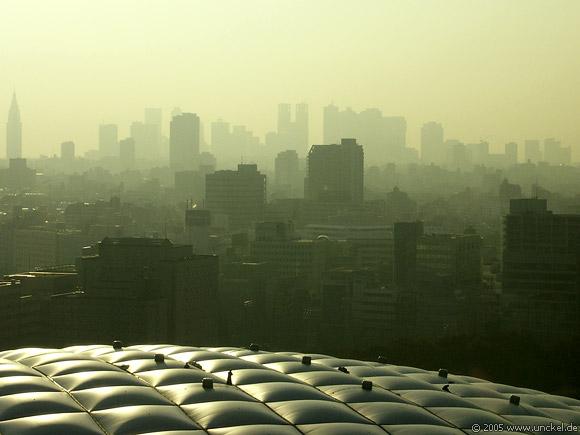 Tokyo Dome, im Hintergrund das Rathaus, Shinjuku, Tokyo - 東京 2005