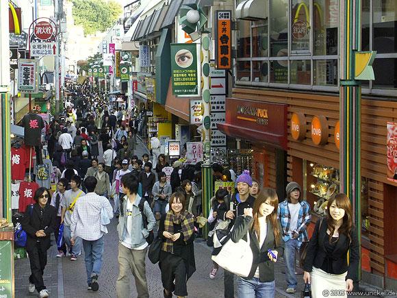 Takashita Dori, die Modemeile junger Leute, Tokyo - 東京 2005