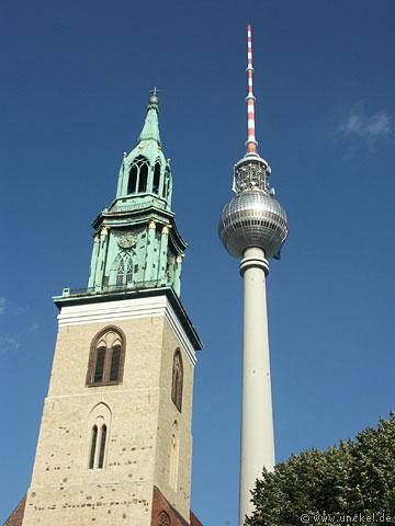 Berliner Fernsehturm auf dem Alexplatz, Berlin 2007
