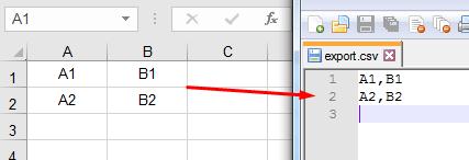 Excel zu CSV-Export