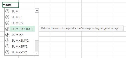 Excel-Formelvorschlag übernehmen? Mit der Tab-Taste geht's!