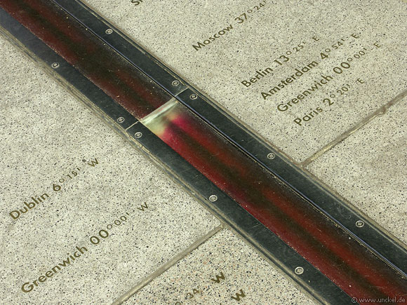 Prime Meridian of the World bei Greenwich, London 2006